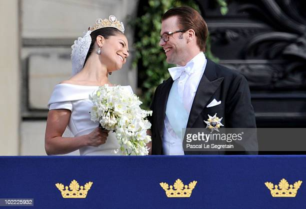 Crown Princess Victoria of Sweden Duchess of Västergötland and her husband Prince Daniel Duke of Västergötland meet the general public as they appear...