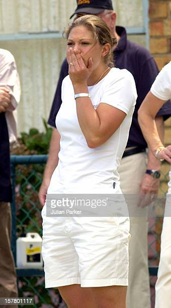 Crown Princess Victoria Of Sweden Plays Lawn Bowls At Princes Park Bowling Club In Melbourne During Her Visit To Promote 'Swedish Style In Australia'