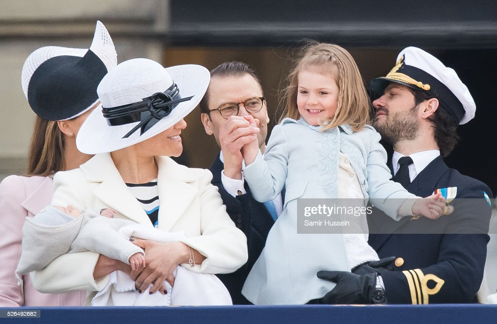 , Crown Princess Victoria of Sweden , Prince Daniel of Sweden, Princess Estelle of Sweden and Prince Carl Philip of Sweden attend the choral tribute and cortege during the celebrations of the 70th birthday of King Carl Gustaf of Sweden on April 30, 2016 in Stockholm, Sweden.