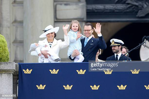 Crown Princess Victoria of Sweden Prince Oscar of Sweden Prince Daniel of Sweden and Princess Estelle of Sweden attend the choral tribute and cortege...