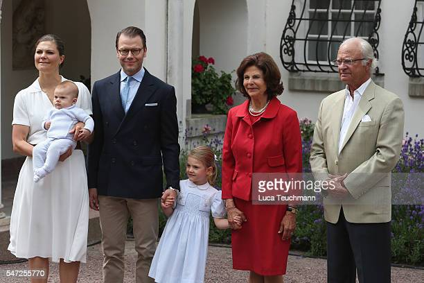 Crown Princess Victoria of Sweden Prince Oscar of Sweden Princess Estelle of Sweden Prince Daniel of Sweden Queen Silvia of Sweden and King Carl...