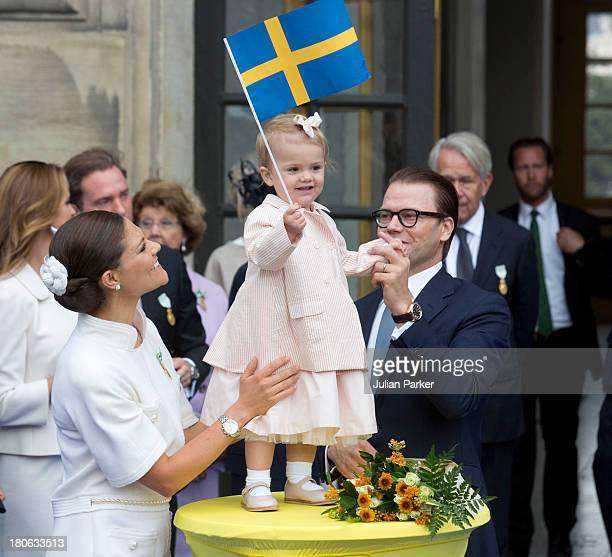 Crown Princess Victoria of Sweden Princess Estelle of Sweden and Prince Daniel of Sweden attend the city of Stockholm's celebrations for King Carl...