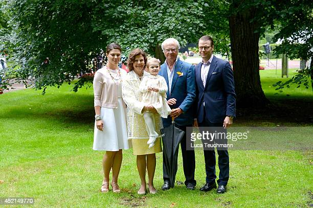 Crown Princess Victoria of Sweden Queen Silvia of Sweden Princess Estelle of Sweden King Carl Gustaf XVI of Sweden and Prince Daniel Duke of...
