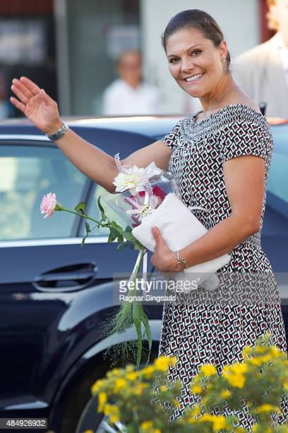 Crown Princess Victoria of Sweden takes Part in Climate Pilgrimage on August 22 2015 in Stromstad Sweden