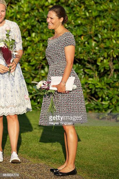 Crown Princess Victoria of Sweden takes Part in Climate Pilgrimage on August 22 2015 in UNSPECIFIED Unspecified