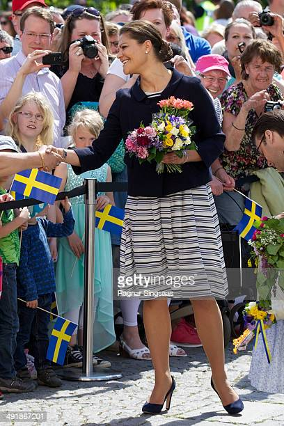 Crown Princess Victoria of Sweden visits Linkoping castle on May 17 2014 in Linkoping Sweden