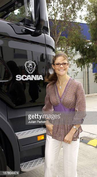 Crown Princess Victoria Of Sweden Visits The Scania Truck Centre In Melbourne During Her Visit To Promote 'Swedish Style In Australia'