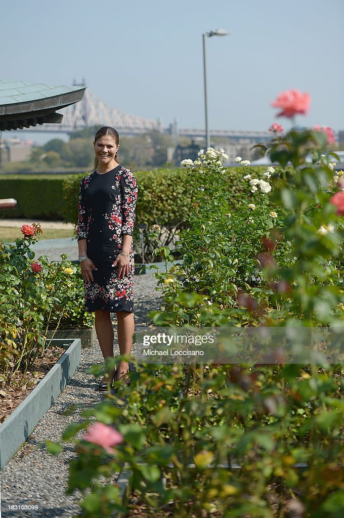 Crown Princess Victoria of Sweden visits The United Nations at the United Nations on October 4, 2013 in New York City.