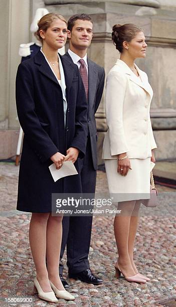 Crown Princess Victoria Princess Madeleine Prince Carl Philip Attend A Choir Concert At The Royal Palace During The Celebrations For King Carl Gustav...