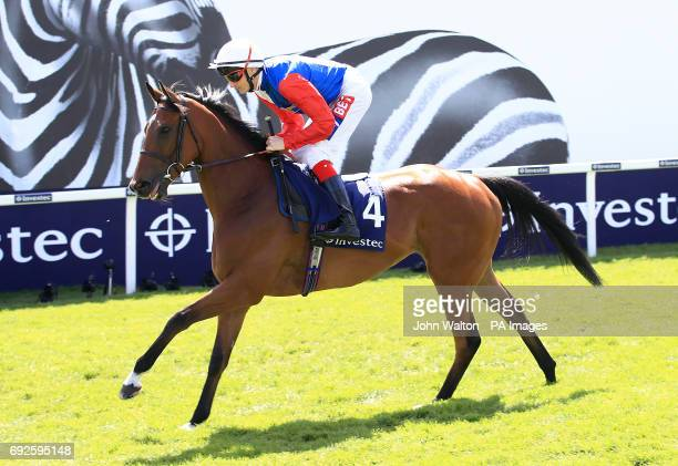 Crowning Glory ridden by Jockey Fran Berry prior to the Princess Elizabeth Stakes