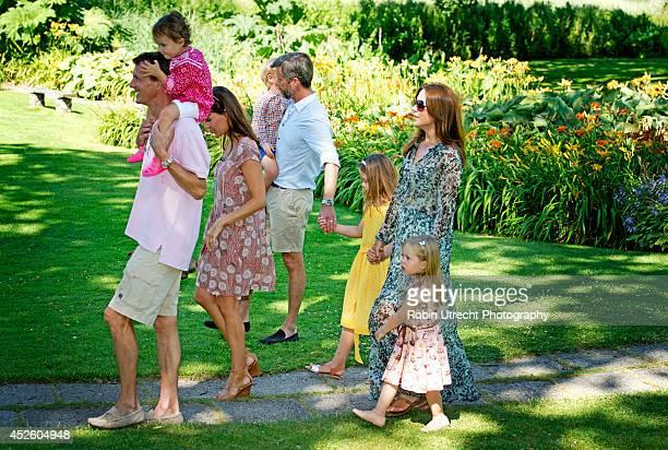 Crownprince Frederik Crownprincess Mary Princess Isabella Prince Vincent Princess Josephine Prince Joachim Princess Marie and Princess Athena attend...