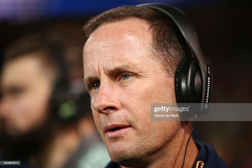 Crows head coach <a gi-track='captionPersonalityLinkClicked' href=/galleries/search?phrase=Don+Pyke&family=editorial&specificpeople=15103898 ng-click='$event.stopPropagation()'>Don Pyke</a> speaks to media during the round 10 AFL match between the Adelaide Crows and the Greater Western Sydney Giants at Adelaide Oval on May 28, 2016 in Adelaide, Australia.