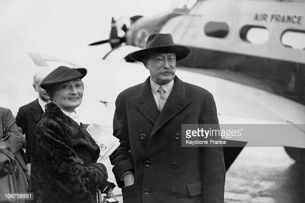 Croydon Airport Arrival Of The French President Of Council Leon Blum With His Wife On 1936 July 27Th