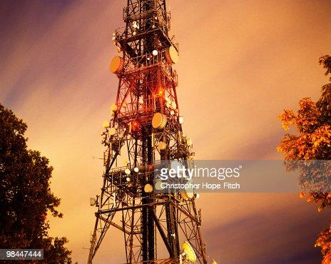 Croydon Mast at Night
