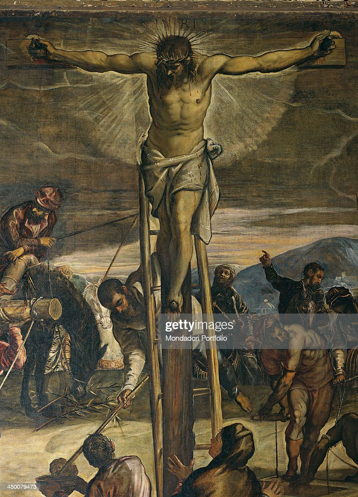 Crucifixion (Crocifissione), by Jacopo Robusti known as Tintoretto, 1564 - 1565, 16th Century, oil on canvas, 536 x 1224 cm.