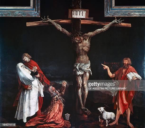 Crucifixion central panel of the Isenheim altarpiece ca 1515 by Mathias Grunewald oil on canvas Colmar Musée D'Unterlinden