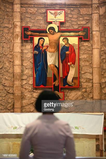 Crucifixion icon in Santo Toribio monastery