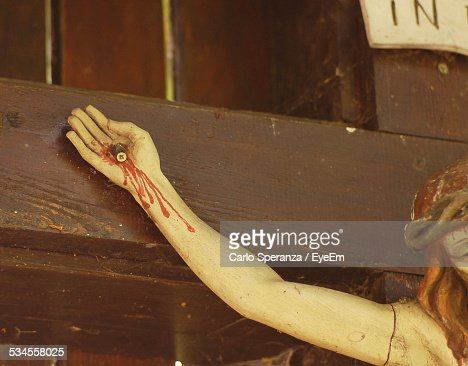 Crucifixion Of Jesus Christ In Church