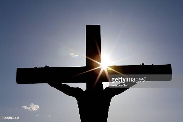 十字架はりつけシルエット