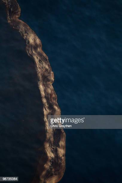 Crude oil sits on the surface of the water that has leaked from the Deepwater Horizon wellhead in the Gulf of Mexico on April 28 2010 near New...