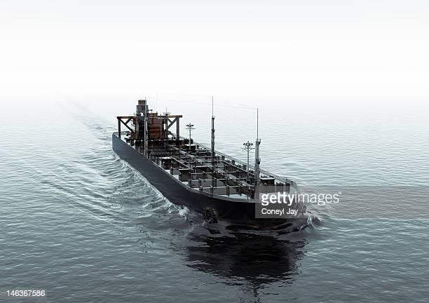 CGI of crude oil super tanker