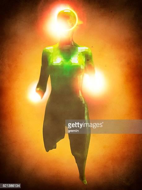 Crudely shaped humanoid figure
