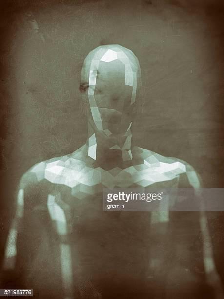 Grob geformte Humanoid Abbildung