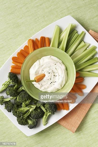 Crudite platter with dip