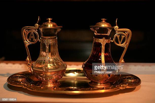Cruets with Wine and Holy Water
