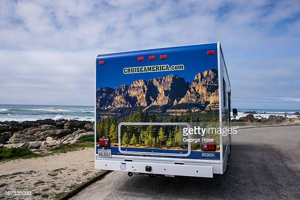 Cruise America recreational vehicle is parked near Pacific Grove on April 6 in Monterey California Some 136 million international travelers visit the...