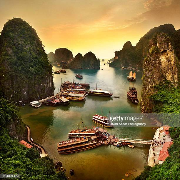 Cruise Boats in Halong Bay