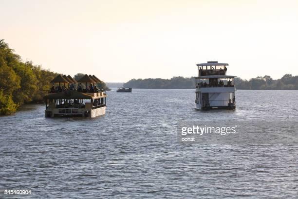 Cruise boats on the River Zambezi