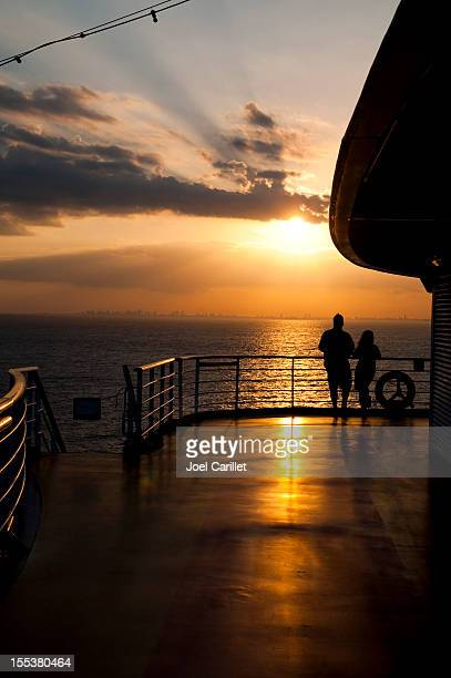 Cruise couple at sunset