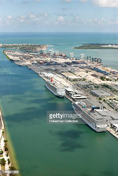 Cruise liners in the Port of Miami