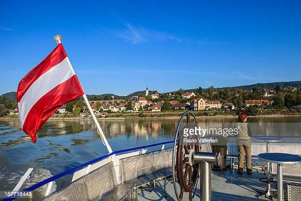 Bootsfahrt auf der Donau, Österreich
