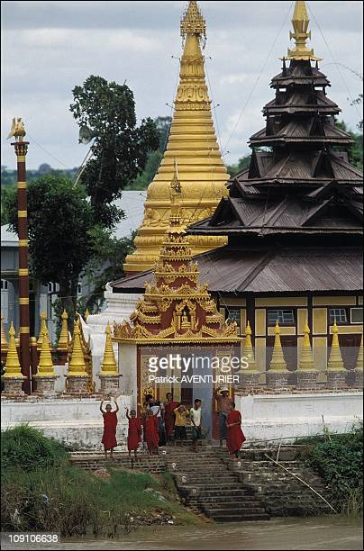 Cruise On The Irrawady River On January 8Th Myanmar A Thousand Temples Can Be Seen From Bhamo To Pagan By Way Of Thabeikkin Here Pagoda Of Khata In...