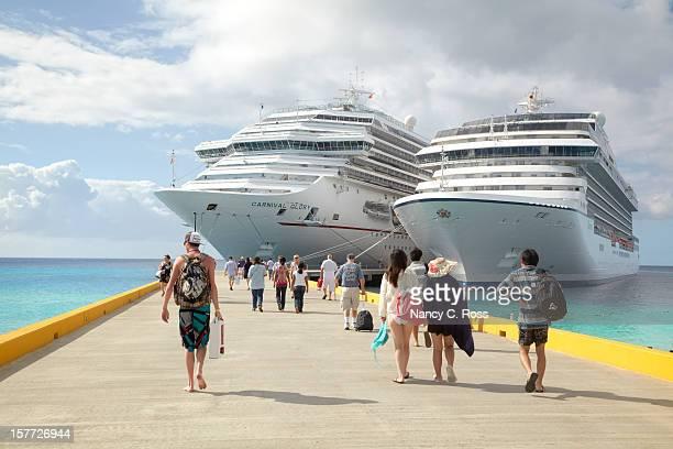 Cruise Passengers Return to Ships, Grand Turk Island, Caribbean