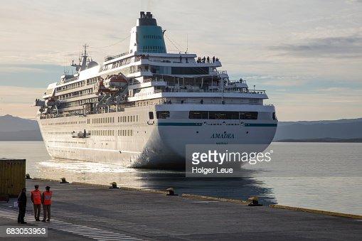 Cruise Ship Ms Amadea Approaches Ushuaia Pier Stock Photo Getty - Cruise ship amadea
