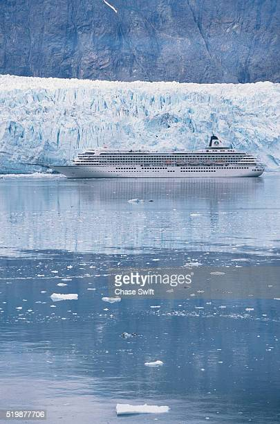 Cruise Ship and Margerie Glacier