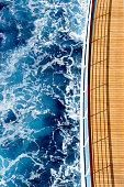 Cruise ship and ocean