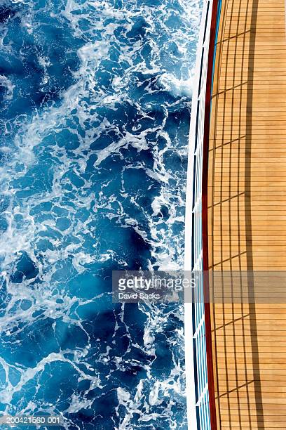 Cruise ship and ocean