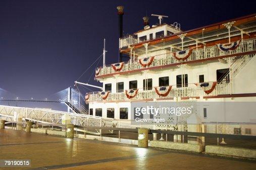 Cruise ship at a harbor, Savannah, Georgia, USA : Foto de stock