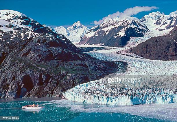 Cruise ship at Margerie Glacier in Glacier Bay National Park