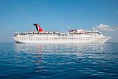 Cruise ship Carnival Paradise at anchor