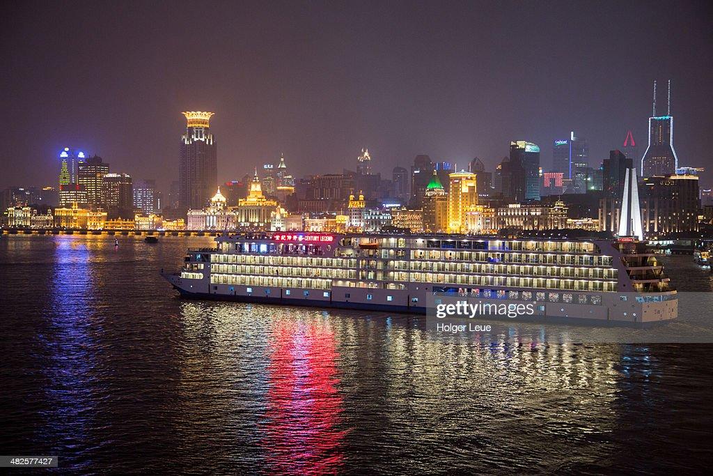 Cruise ship Century Legend at night