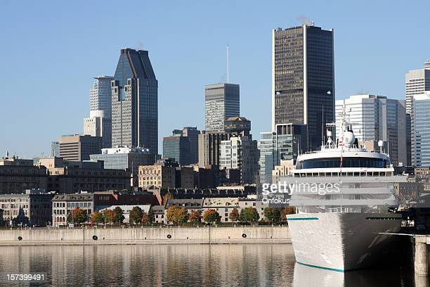 Cruise ship dock in Montreal port