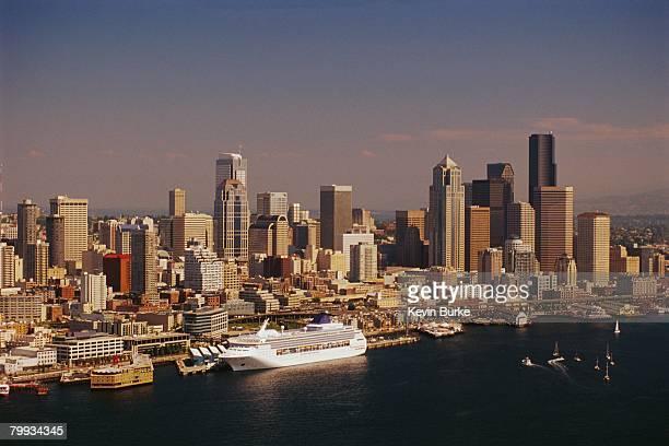 Cruise Ship Docked in Elliott Bay, Seattle