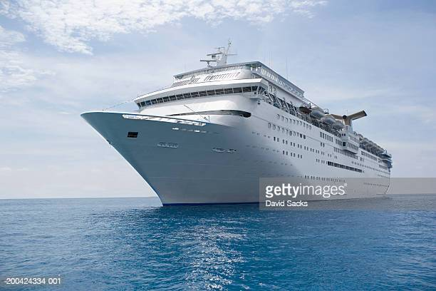 Cruise ship in caribbean sea