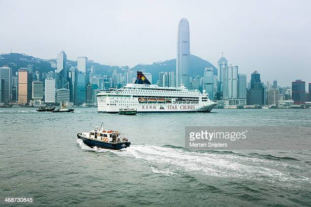 Cruise ship in Victoria Harbour