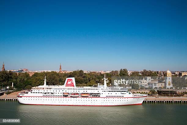 Cruise ship on Guadalquivir river